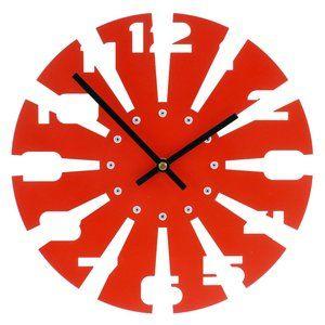 Modern Saw Blade Wall Clock - Laser Cut Design